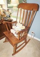 VINTAGE SOLID WOOD ROCKING CHAIR - LIV