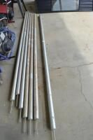 (7) aluminum tent stakes 12ft tall