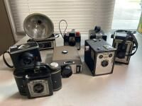 Assortment of Vintage Cameras