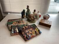 Assortment of Decorative Items, Salt Shakers, Figurines, Etc.
