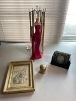 Assortment of Necklaces, Framed Art, Etc.