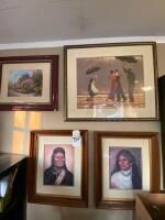 4 Pieces of Framed Art