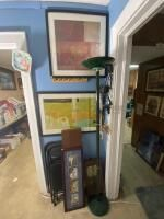 Assortment of Wall Art, Chairs, Lamp, Etc.