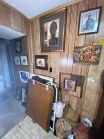 Salvage Lot Including Framed Art, Mirror, Etc. Buyer Responsible for Removal