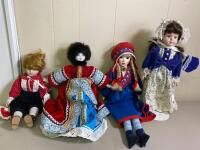 4 Porcelain Dolls