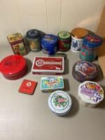 Assortment of Tin Containers
