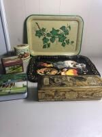 Decorative Platters, Tin Containers Etc.