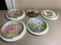 Assortment of Decorative Ceramic Plates