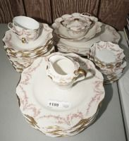 VINTAGE THEODORE HAVILAND NEW YORK VARENNE PATTERN CHINA, 42 PIECES