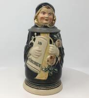 J. Reinemann, Munchen Munich Child Lidded Character Stein
