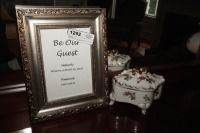 PICTURE FRAME AND ORNATE PORCELAIN TRINKET BOWL - USBR2