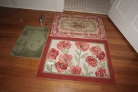THREE ENTRYWAY RUGS - USBR3