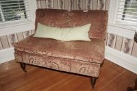 RETRO ARMLESS LOVESEAT ON CASTERS - USBR3