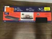 (4) Hillman 515605 18 Inch BLACK Bev Float Shelf
