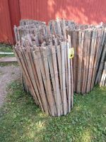 Four rolls of wooden snow fence or if your real old school, it was corn cribbing