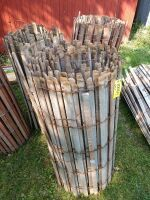Four rolls of snow fence or old wooden cribbing whichever you prefer!