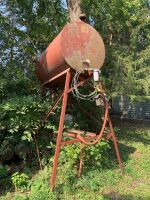 Gas barrel 150 gallon on stand