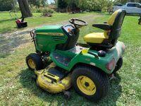 "John Deere X724 ultimate riding lawnmower 62"" blade"