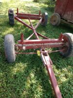 Wagon running gear, unknown brand - probably 15-in tires tires - not good, plan to haul on a trailer