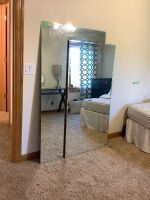 "Two floor mirrors - Larger one measures 66"" H x 36"" W and the smaller one measures 60"" H x 30"" W"