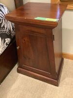"Pair of Stanley Furniture night stands - measure 16""L x 16"" W x 30.5"" H, matches lots 10005-10007"