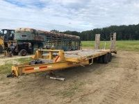 30' Flatbed Trailer with 12,000 LBS Bandland Wench