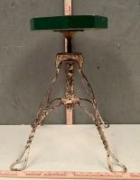 Iron Frame Stool with Wood Top