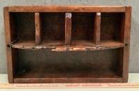 Vintage Wood Cubby Shelf