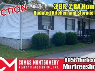 ONLINE ONLY AUCTION: 3 BR, 2 BA Home with Updated Kitchen and Storage Building