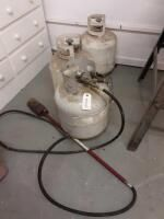 3 Propane Tanks with Brush Torch