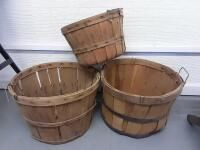 3 Apple Baskets