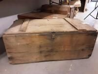 Hinged Wood Crate dated 1943 inside  33 5 x 14 x 17
