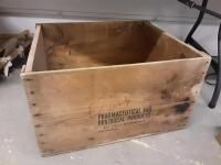 Wood Crate  22in x 24 5in x 14 5in