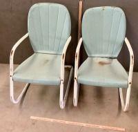 2 Metal Patio Chairs