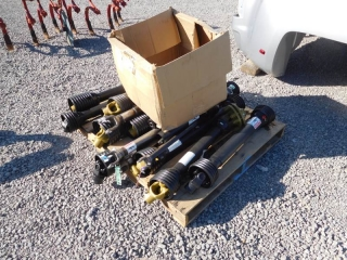 LOT OF MISC PTO SHAFTS