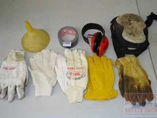 Knee Pads, Gloves Hearing Protectors & Tape.