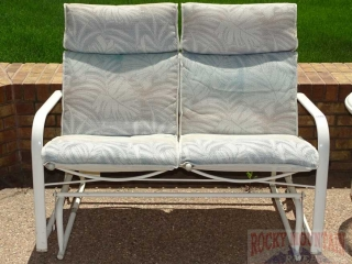 Patio Glider with Cushions.