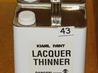 2 Full & 1 Partial Gallons Kwal Lacquer Thinner.
