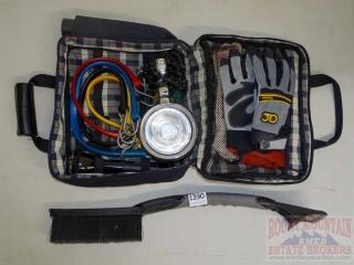 Car Tool Kit w/ Flashlight, Gloves, Bungee Cords