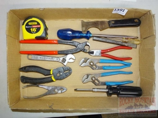 Channel Locks, Nipper, Wrenches, Tape Measure