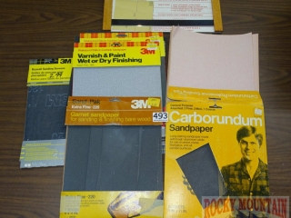 Assorted Sand Paper.