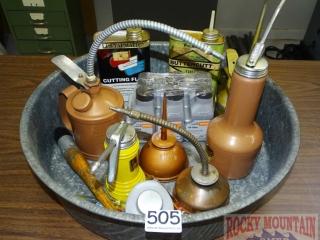 Asst. Oil Cans, Oil & More.