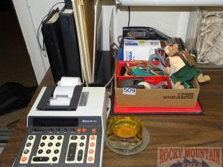 Adding Machine & Office Items.