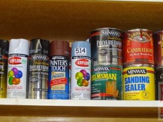 Asst. Finish, Paint & More.
