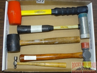 4 Mallets & Ball Peen Hammer.