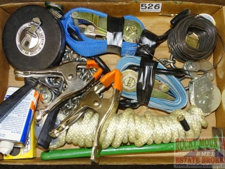 Tie Downs, 100' Tape Measure & More.