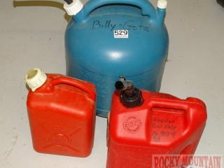 3 Gas Cans.