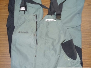 Columbia Insulated Overalls Size M.