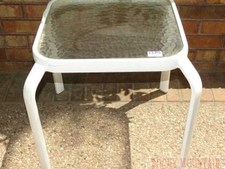 Glass Top Outdoor Side Table.