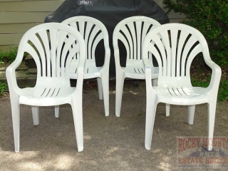 4 Stacking Lawn Chairs.